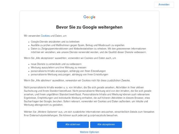 Screenshot von http://maps.google.de/