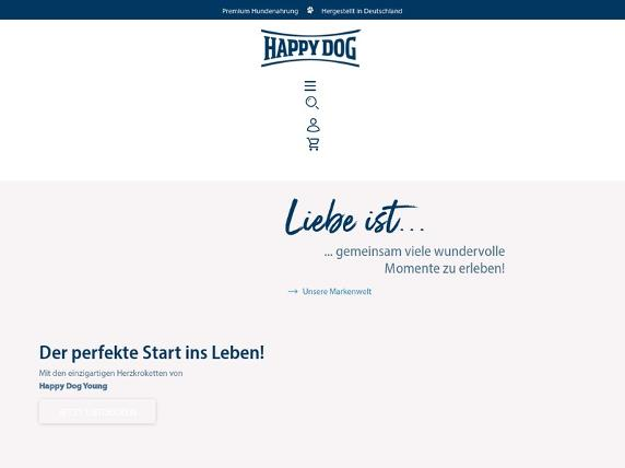 Screenshot von http://www.happydog.de